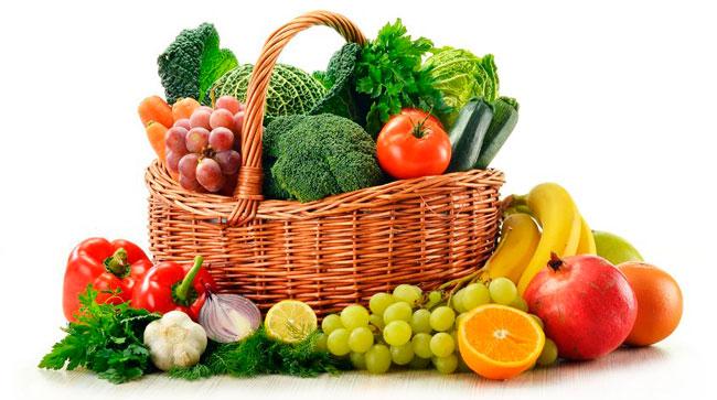 Корзина продуктов для здорового питания