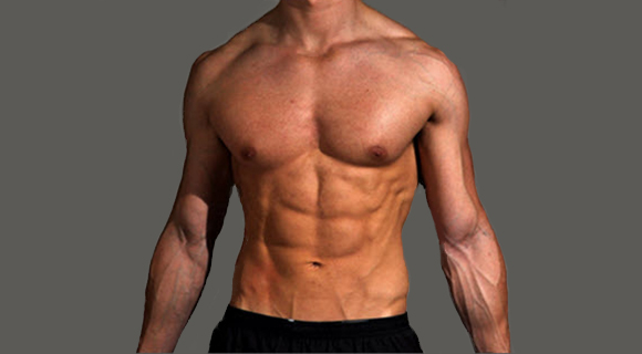накаченное тело мужчины без жира