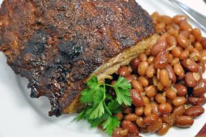 Мясо и бобовые