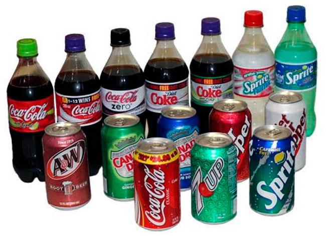 Сладкие калорийные напитки