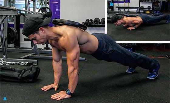 Отжимания с весом на спине