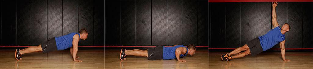 Упражнение планка для грудных мышц