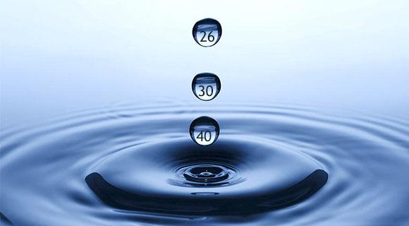 мужской возраст в виде капель воды