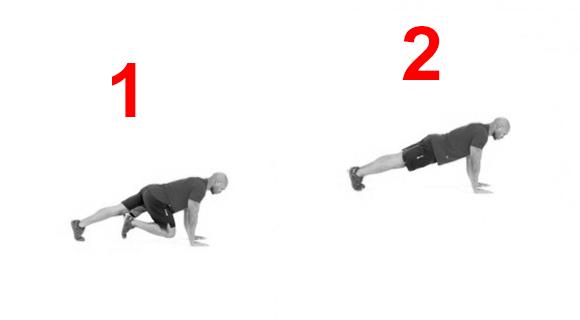 выполнение упражнения альпинист